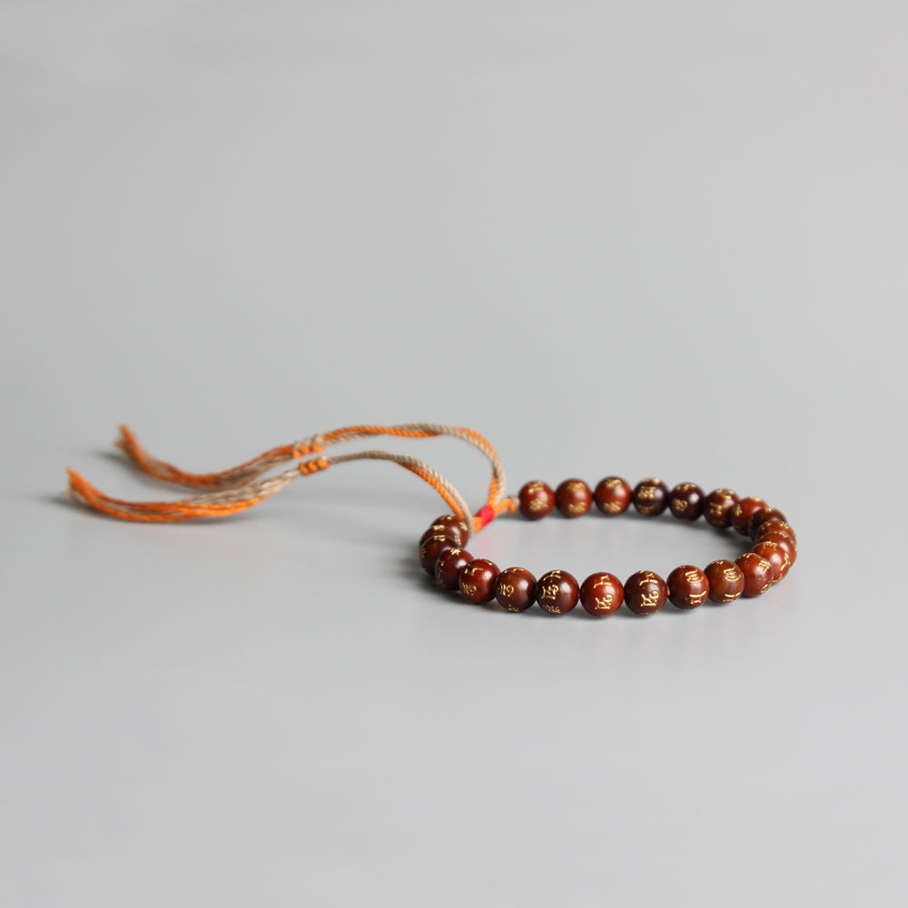 Tibetan Buddhist Brown Coconut shell Lucky knots bracelet