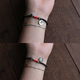 Handmade Tibetan lama bracelet with Chinese lucky sign charm