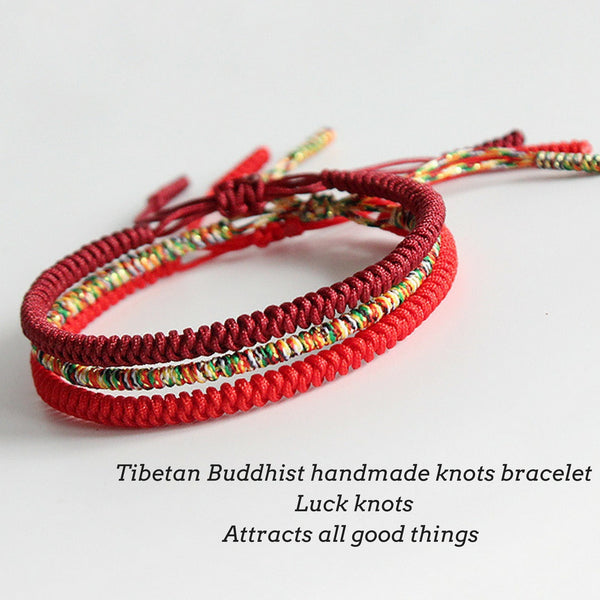 Forty Red Bangles: HANDMADE KNOTS LUCKY ROPE BRACELET ( Protection