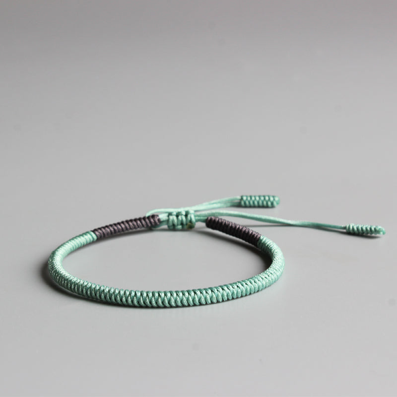 HANDMADE KNOTS LUCKY ROPE BRACELET ( Happiness )