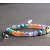 Crown Natural Gemstone Chakra Bracelet