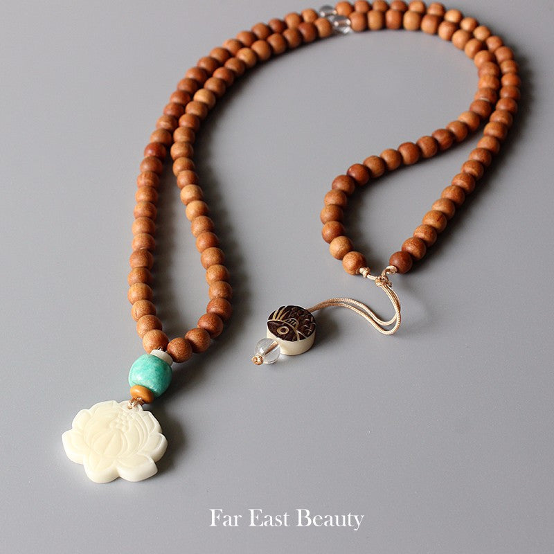 Lotus Mala Necklace Kundalinispirit