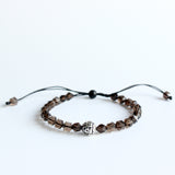 Smoky crystal Mala Beads Bracelet