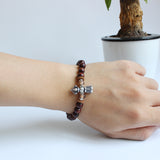 Six True Mantra Words Dark Sandalwood bracelet