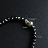 Buddhist Blessed Black Agate Bracelet