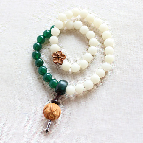 Green Agate & Pure quartz Bracelet