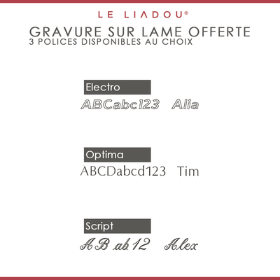 Liadou ® Exception en Fibre de carbone & Intercalaires Rouge