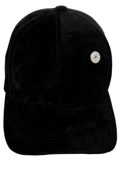 DIAMOND BLACK SUEDE CAP
