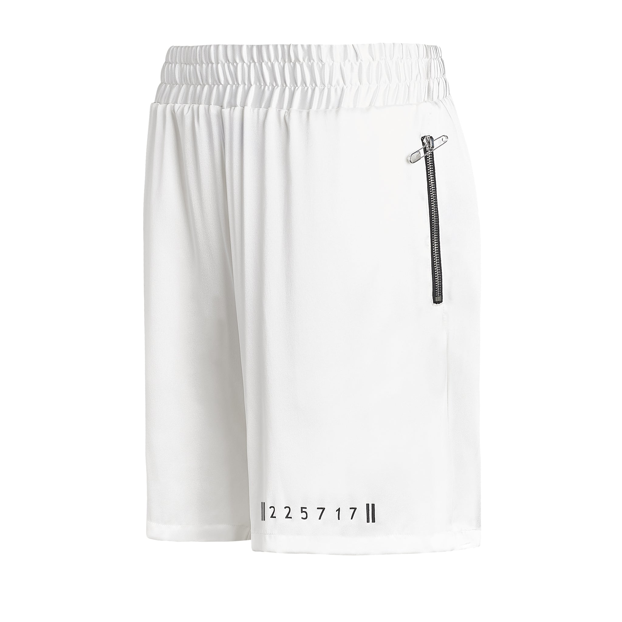 DIAMOND SILK BOXING SHORTS WHITE