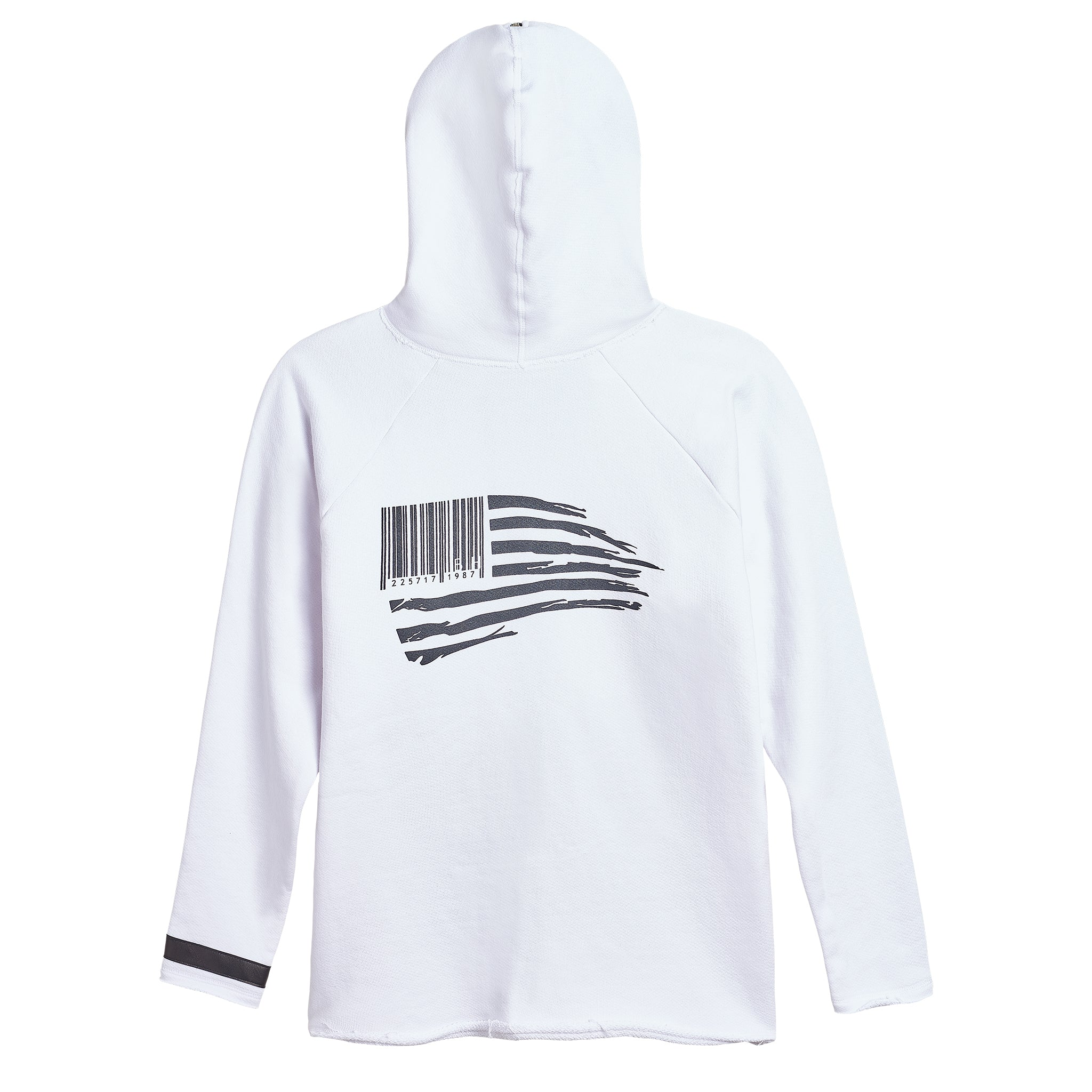 DIAMOND ZIP HEAD HOODIE WHITE