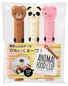 3 Piece Animal Food Clip