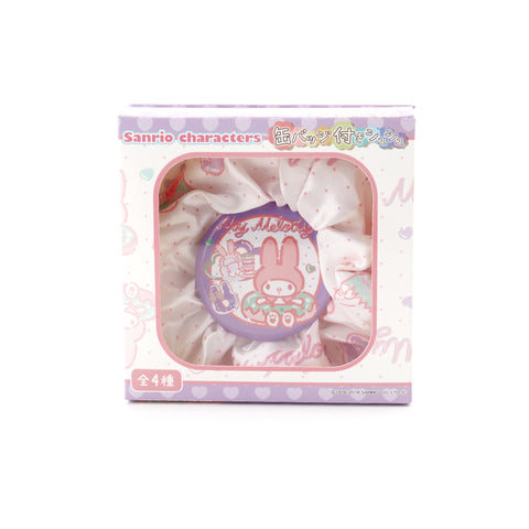 Kawaii Scrunchie & Badge Set