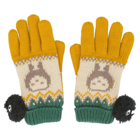 My Neighbour Totoro Sprite Yellow Pom Pom Gloves
