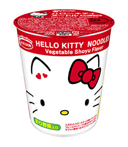 Hello Kitty Noodle Veggie Soy Sauce Broth