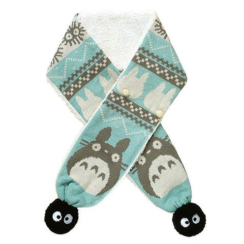 My Neighbour Totoro Sprite Blue Pom Pom Scarf