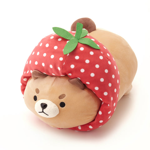 Shiba and Cat Strawberry Plushie