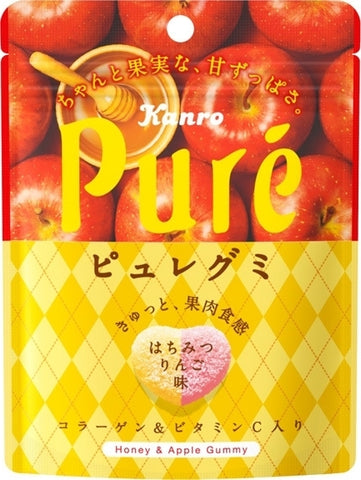 Kanro Japanese Honey & Apple Pure Gummies