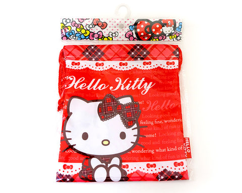 Hello Kitty Red Kinchaku Style Pouch