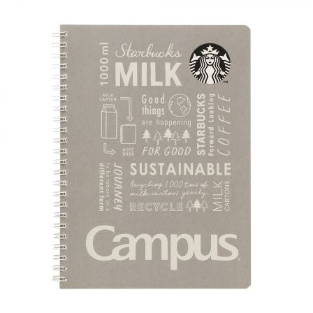 Starbucks Japan x Campus: Grey Ring Notebook