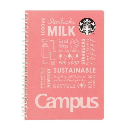 Starbucks Japan x Campus: Peach Pink Ring Notebook