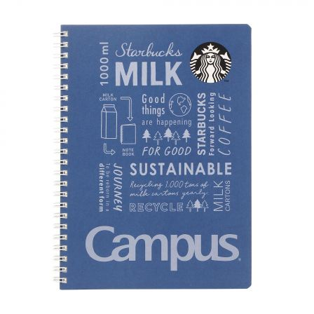 Starbucks Japan x Campus: Navy Ring Notebook