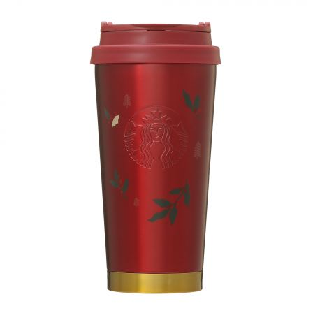 Starbucks Japan: Holiday 2020 Red Embossed Holly Tumbler