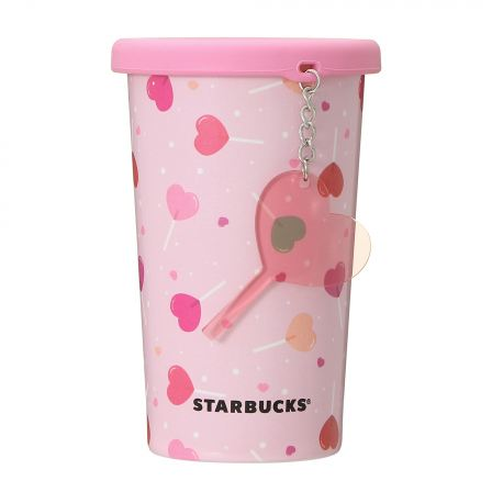 Lollipop Charm Silicon Lid Stainless Cup