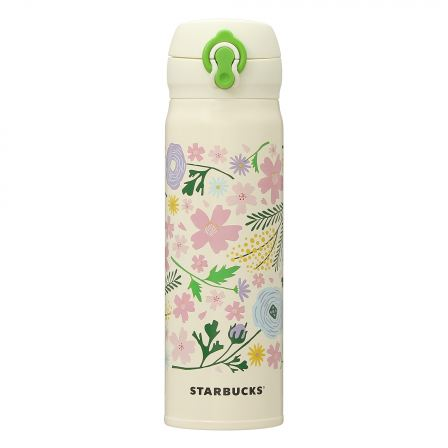 Starbucks Sakura 2021 Spring Flowers Handy Stainless Bottle 500ml