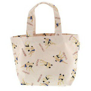Japanese Canvas Tote Bag - White Sumo