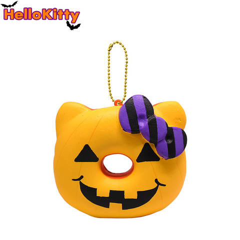 Hello Kitty Halloween Donut Squishy - Yellow