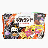 Glico Halloween Kitty Land Chocolate Biscuits