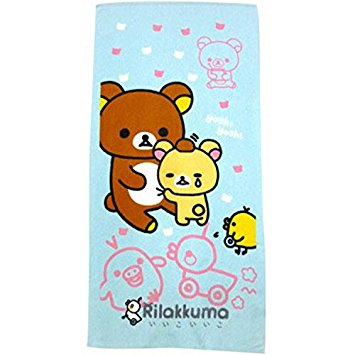 Rilakkuma Face Towel - Blue
