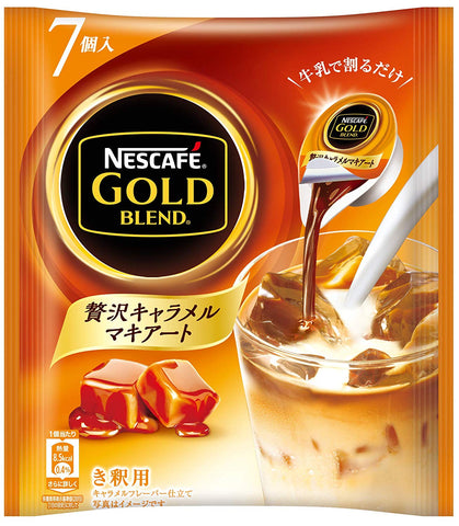 Nescafe gold blend luxury caramel macchiato