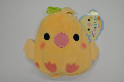 Amuse Kotoritai Kinchaku Pouch - Yellow Cockatiel