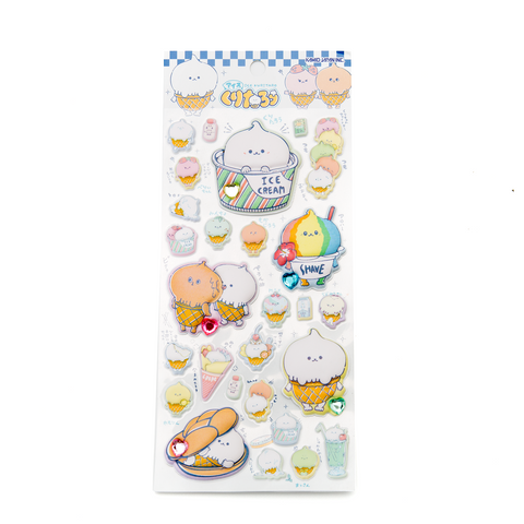 Ice Cream Kuritaro Puffy Stickers