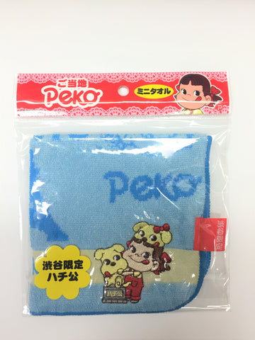 Peko-chan Mini Towel - Shibuya Blue
