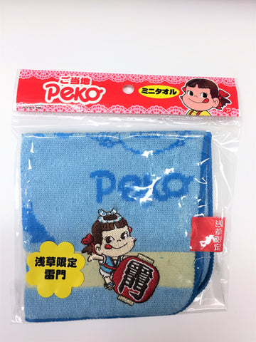 Peko-chan Mini Towel - Kaminarimon Blue