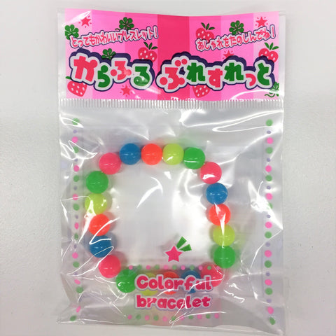 Kawaii Beaded Bracelet - Neon