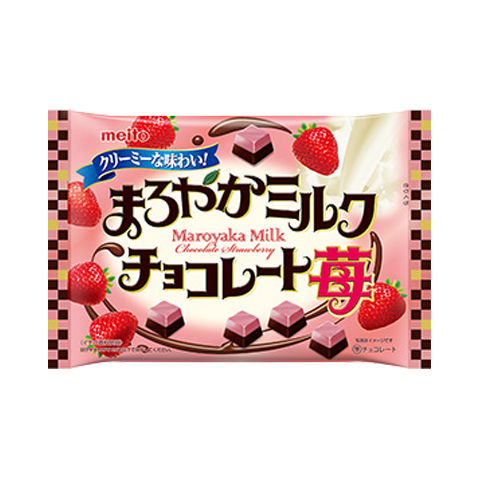 Maroyaka Milk Chocolate Strawberry Party Pack