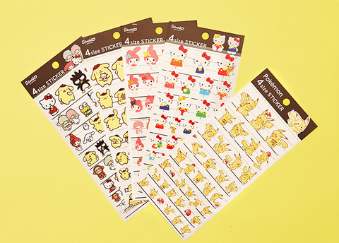 Pokemon and Sanrio Stickers