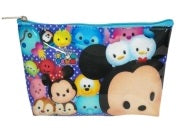 Tsum Tsum Vinyl Cosmetic Pouch - Purple/Blue Design