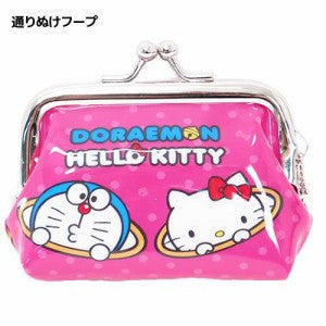 Doraemon x Hello Kitty  Coin Purse Torinuke Hoop
