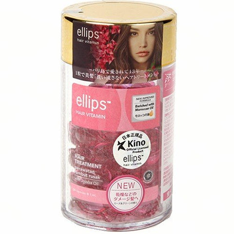 Ellips Hair Treatment Refreshing Rose Oil Capsules (Bottle)