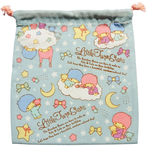 Kawaii Kinchaku Pouch - Little Twin Stars