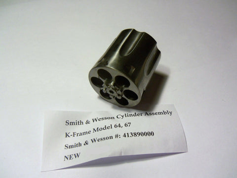 413890000 Smith & Wesson Cylinder Assembly K Frame Model 64 and 67