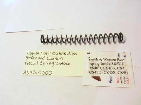 263310000 Smith & Wesson Multiple Model Recoil Spring Auto Pistol Part