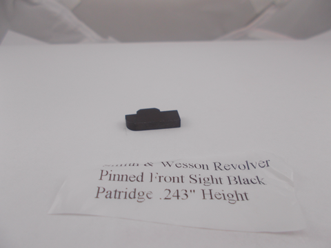 USA Guns And Gear - USA Guns And Gear Revolver Pinned Front Sight Black Patridge - Gun Parts Smith & Wesson - Smith & Wesson