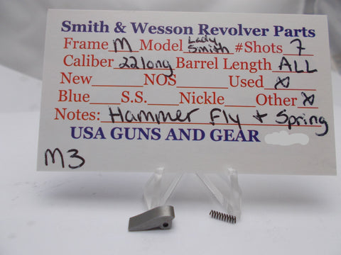 M3 Smith and Wesson M Frame Model LadySmith Hammer Fly & Spring Used 22 Long