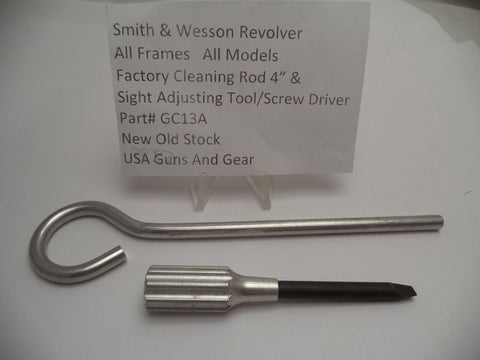 "GC13A Smith & Wesson Revolver Factory Cleaning Rod 4"" & Sight Adjusting Tool"