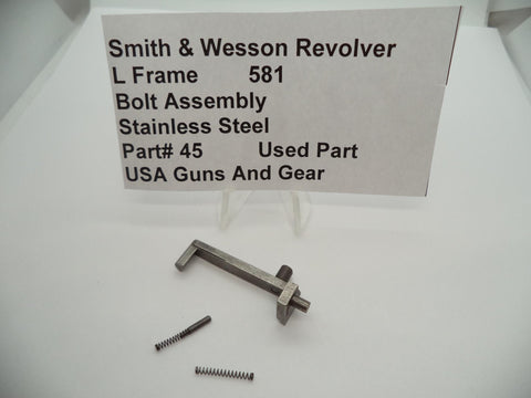 45 Smith & Wesson L Frame Model 581 Used Bolt Assembly